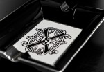Prometheus OPUSX BLACK & WHITE BONE CHINA ASHTRAY
