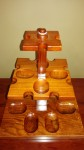 12 PIPE WOODEN RACK/STAND
