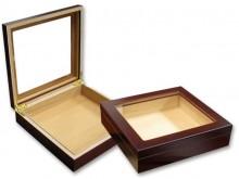 Humidor Black Glass Top w/ Humidifier 20 Cigar Capacity
