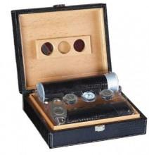 Black Leather Giftset Humidor Capacity 20 Cigar