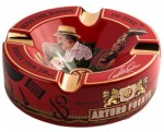 ARTURO FUENTE 'Journey Through Time' Ashtray - Red