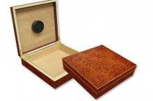 Chatu Burl Travel Humidor 20 Cigar Capacity