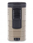 Xikar Tactical Triple - Jet Flame Lighter Tan and Black