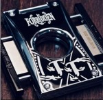 2018 LE Fuente Fuente OPUSX Forbidden X Cutter H Black Lacquer with White Forbidden X Logo Includes leather protective case