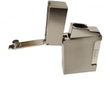 Excel Twin Jet Flame Lighter w/ cigar punch - Gift Box Silver