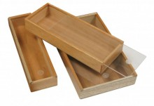 3 Cigar Promotional Box with sliding Top Cedar Lined Wooden Structure