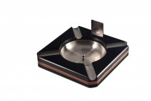4 Cigar Ashtray Black with Cutter