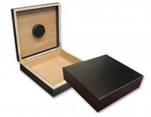 Chatu Black Travel Humidor 20 Cigar Capacity