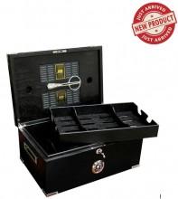 DAKOTA - 120 Ct. Full Black Humidor w/ Scissors & Polished Hardware