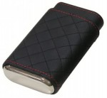 DREXEL DIAMOND STITCH CASE - BLACK