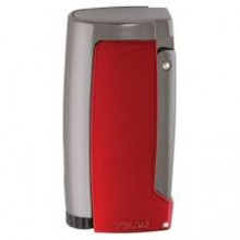 Xikar Pulsar Triple Jet Flame Lighter Built-in 7mm Punch Red