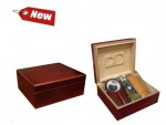 Cherry Humidor and Accessories Gift Set 25-50 Cigar Capacity