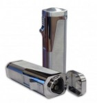 Triple Flame Torch with Retrctble Bullet Cutter in Gift Box (Silver, Black or Gray)
