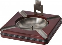 4 Cigar Ashtray Cherry with Cutter