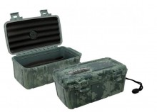 CIGARSAFE 15 Ct. (Camouflage) Plastic Travel Humidor Case