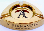 AJ FERNADEZ Gold Cigar Ashray - Triangular