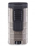 Xikar Tactical Triple - Jet Flame Lighter Gunmetal and Black