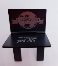 Cigar Stand/ Holder - Stainless Steel Black