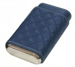 DREXEL DIAMOND STITCH CASE - BLUE