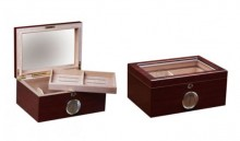 Berkeley 100 Count Cherry Finish Humidor w/ Glass Top