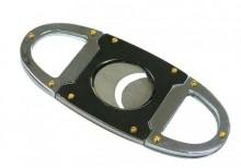 Gun Metal & Chrome Guillotine Cutter Gift Box (56 Ring Gauge)