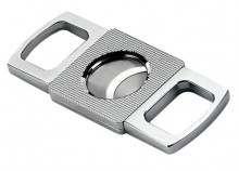 Etched Guillotine Cigar Cutter (Silver)