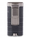 Xikar Tactical Triple - Jet Flame Lighter Black and Gunmetal