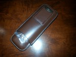 Prestige 2 Finger Leather Cigar Case with Cutter - Brown