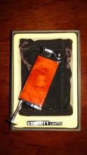ETERNITY PIPE LIGHTER (RED WOOD GRAIN) W/ TAMPER