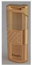 Excel Slim Single Jet Flame Lighter - available in Rose Gold or Silver