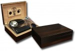 Ebony Gift Set 50 cigar capacity Humidor with Accessories