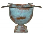 Stinky Old World Box Pressed Copper Patina Ashtray