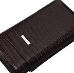 Tejus Print Leather Brown Case - 3 Cigars Large Ring Gauge Spain