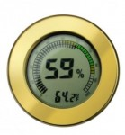 Round Digital Hygrometer & Thermometer in Gold or Silver
