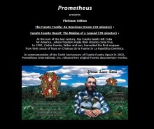 PROMETHEUS - THE FUENTE DVD (Platinum Limited Edition)