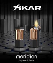 Xikar Meridian Soft Flame Lighter Matte Black & Rose Gold