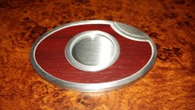 Stainless Steel and Wood Trim Oval Single Cigar Guillotine