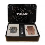 Xikar Ultra Combo Bronze Lighter and Gunmetal Cutter Gift Set