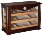 Cabinet Display Humidor 360 degree view with Trays 250ct